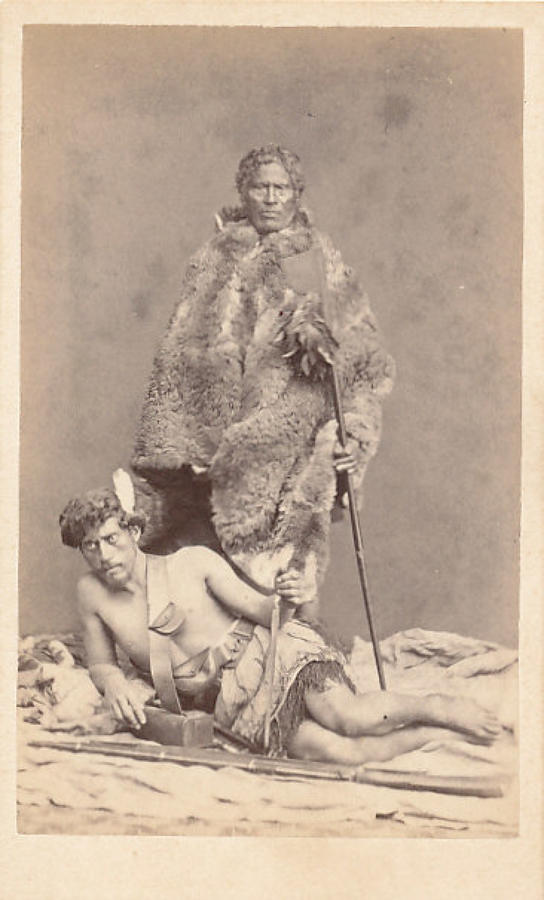 CDV Photo Maori Warrios New Zealand C1875