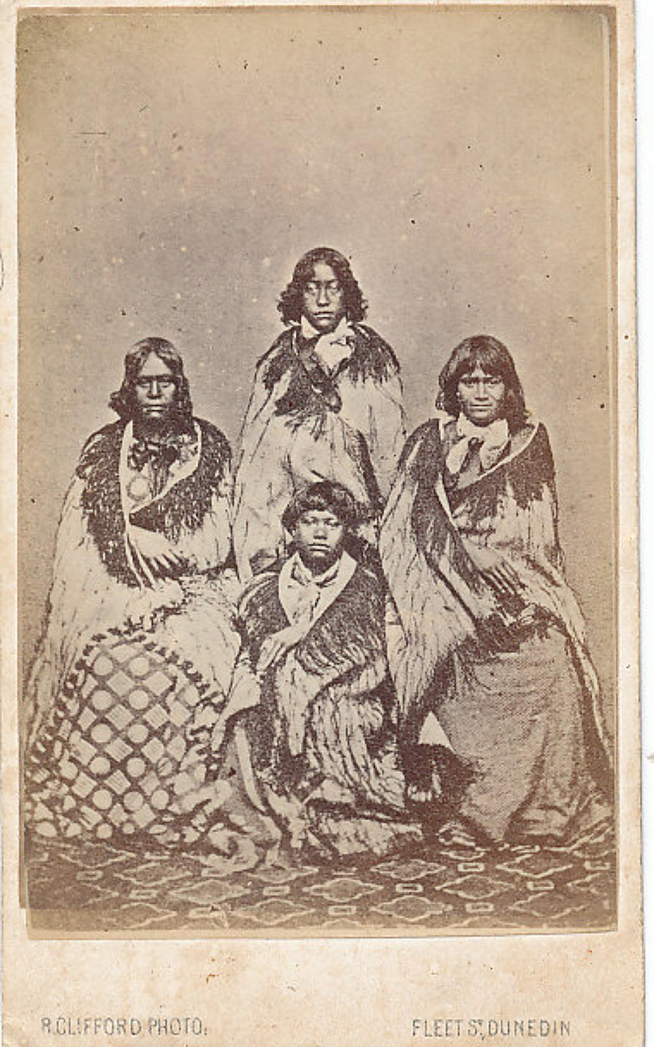 CDV Photo Maori Girls New Zealand C1875