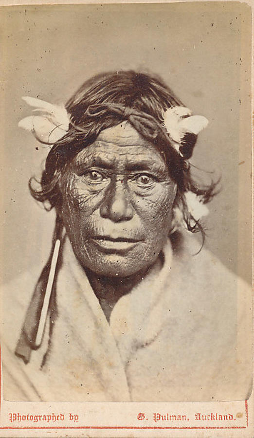 CDV Photo Maori Cheif with Ear Ornament New Zealand C1875