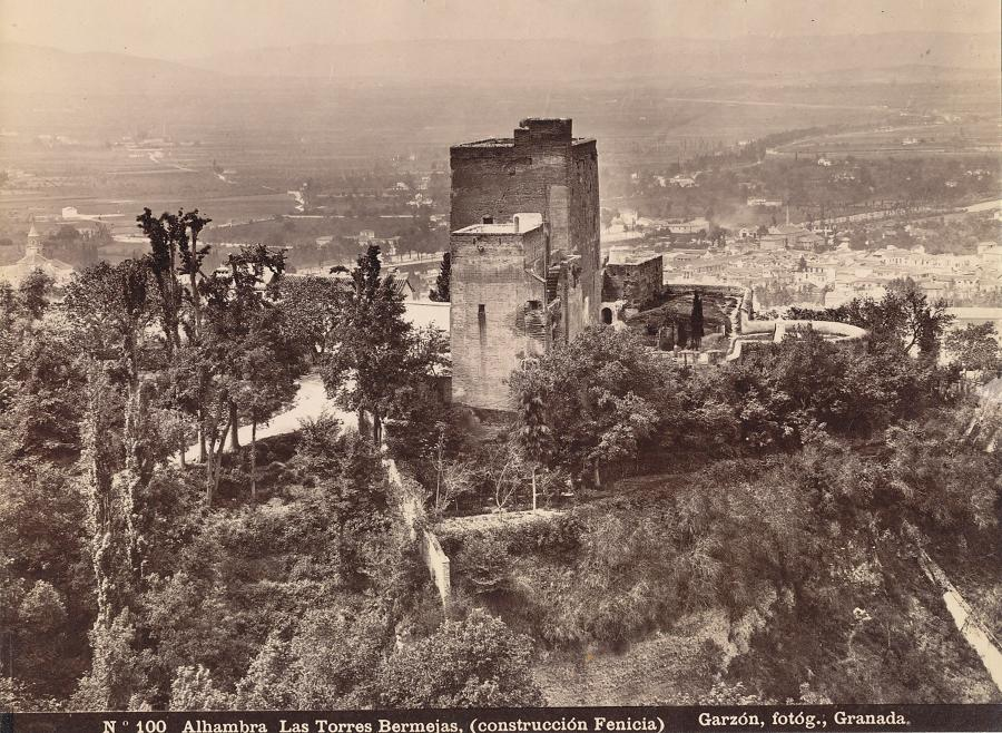 Original Photo Albambra Granada Spain  Garzon C1890