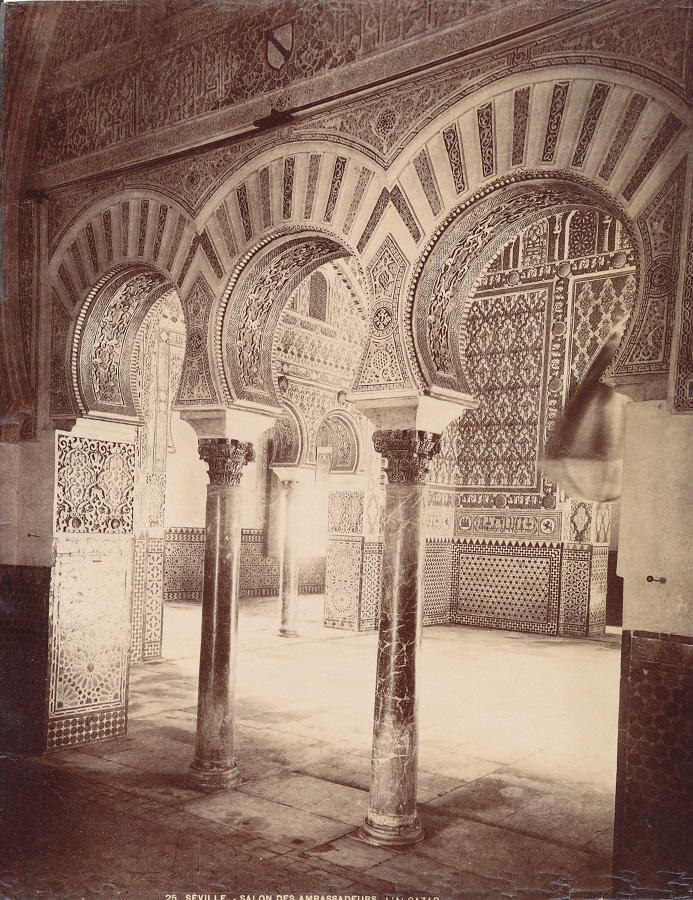 Original Photo Seville  Spain By L'alcazar C1890