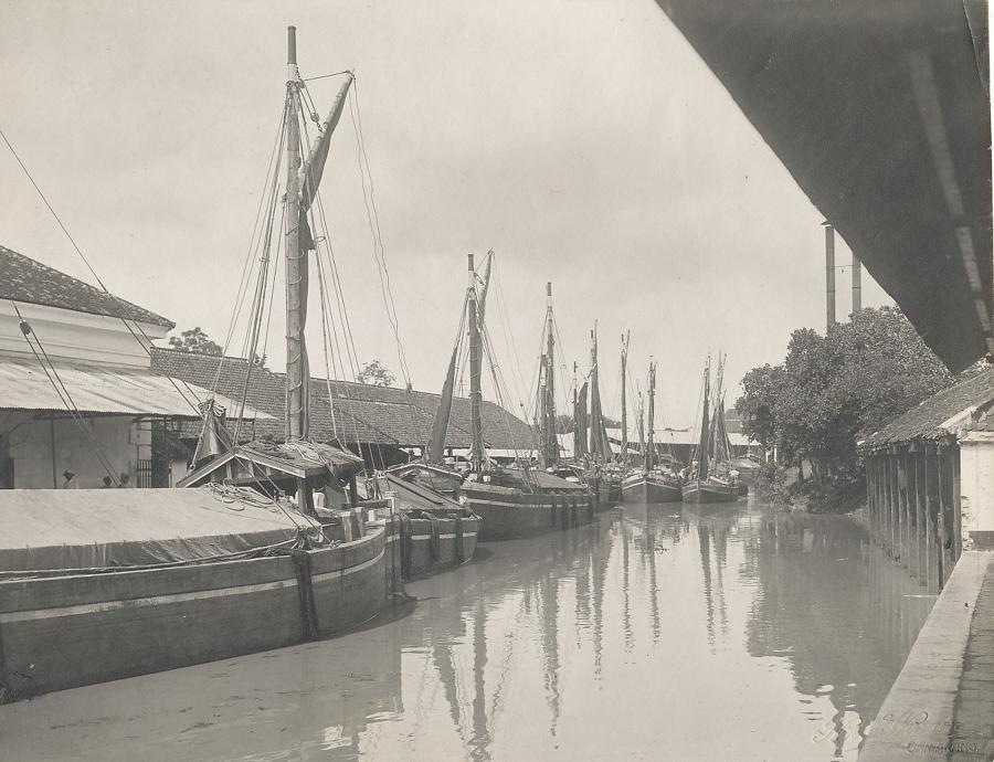 Semarang City in Java Indonesia C1910