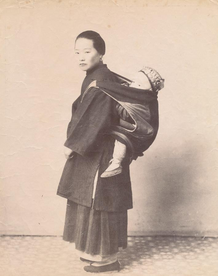 Chinese Mother with Child China C1880