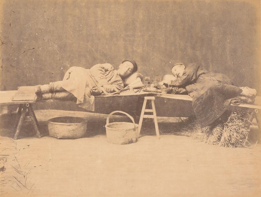 Opium Smokers China By William Saunders. C1870