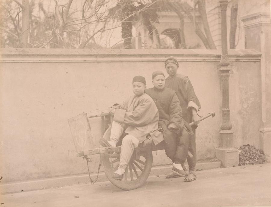 Chinese Wheelbarrow Shanghai China C1870
