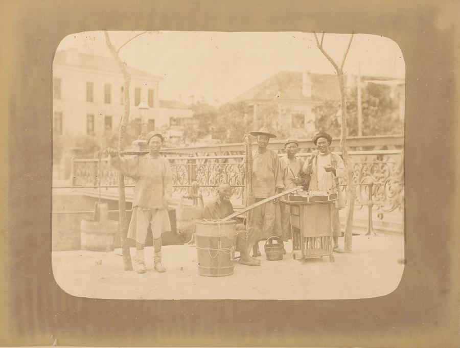 Street Venders Shanghai China C1870