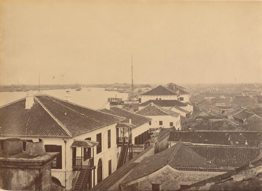View of Ningpo China C1875