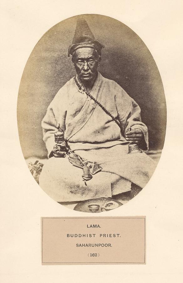 Lama Buddhist Priest Bourn & Shepherd C1875