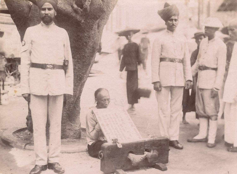 Sikh Police & Prisoner Hong Kong China C1885