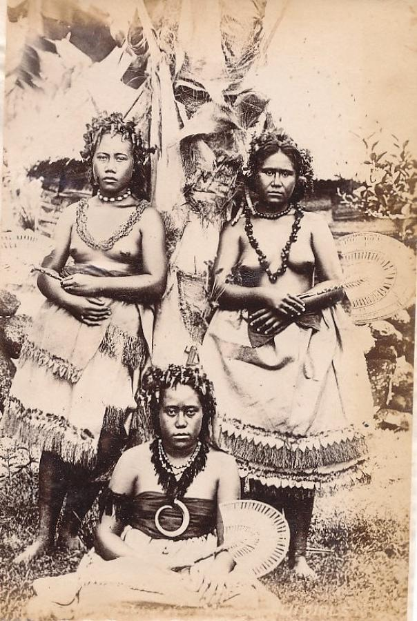Native Fiji Girls with Fan Suva C1890