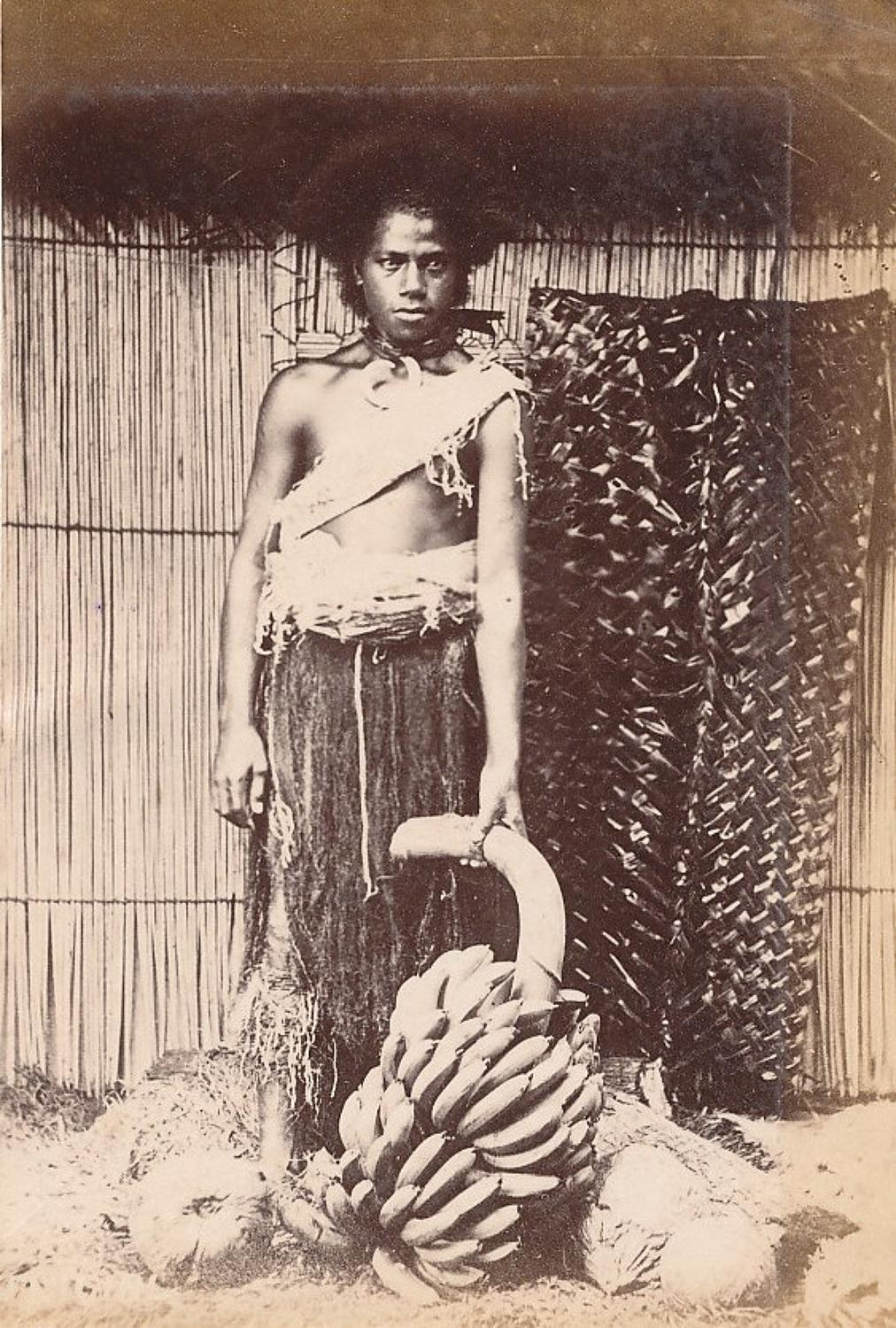 Native Man Fiji  Suva C1890