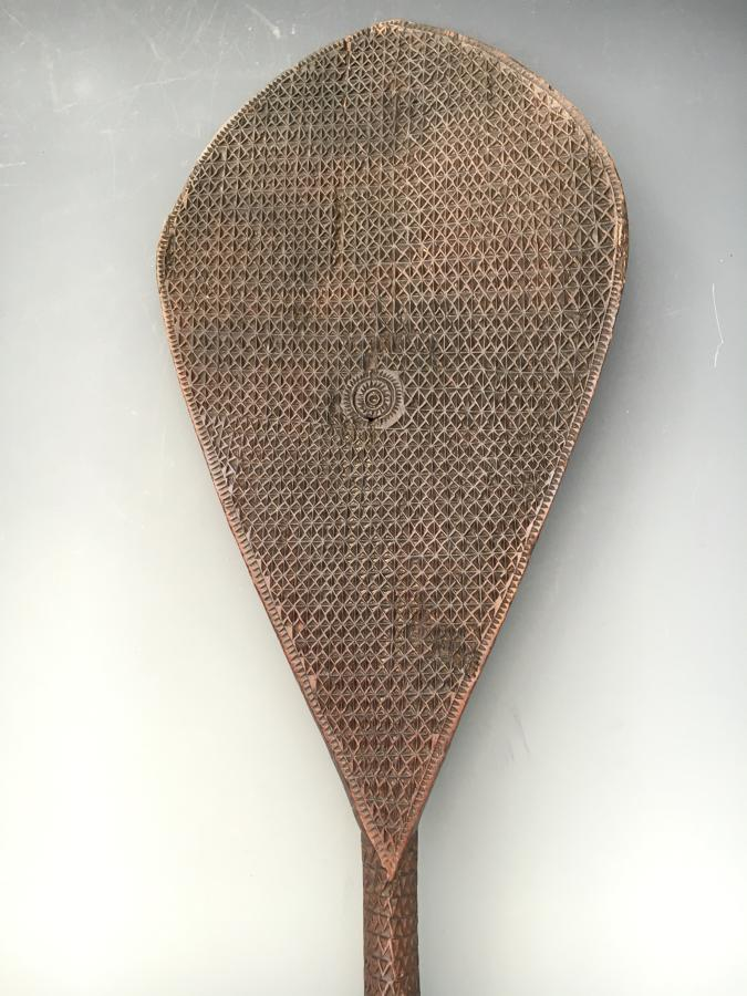 A Fine Astral Island Paddle 19th Century