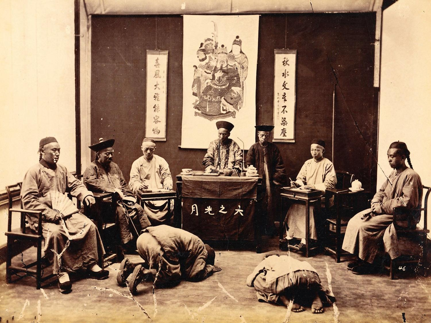 Chinese Court-Room Shanghai China By William Saunders C1870