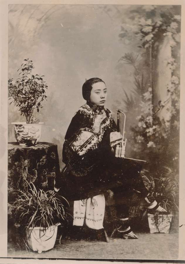 Chinese Lady with bound feet C1895