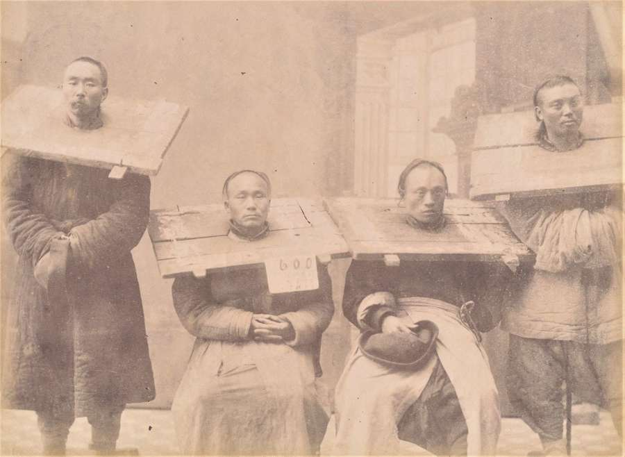 Prisoners in Shanghai China C1885
