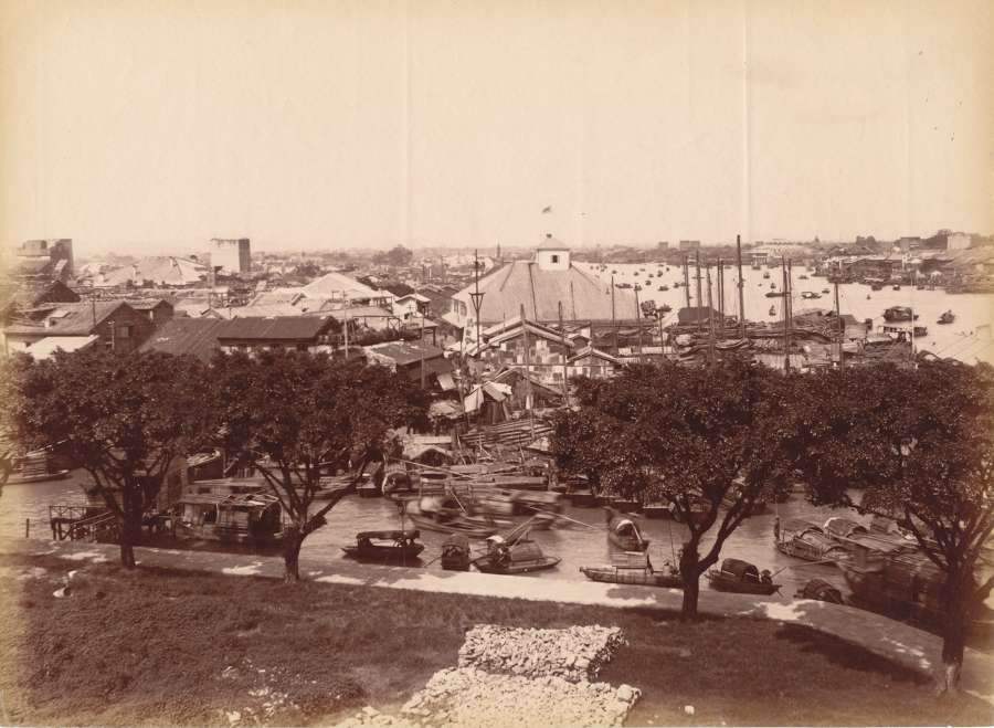 View of Canton China C 1880