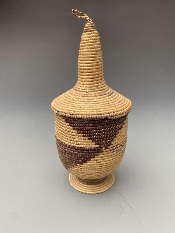Fine Tutsi Basket Rwanda Central Africa