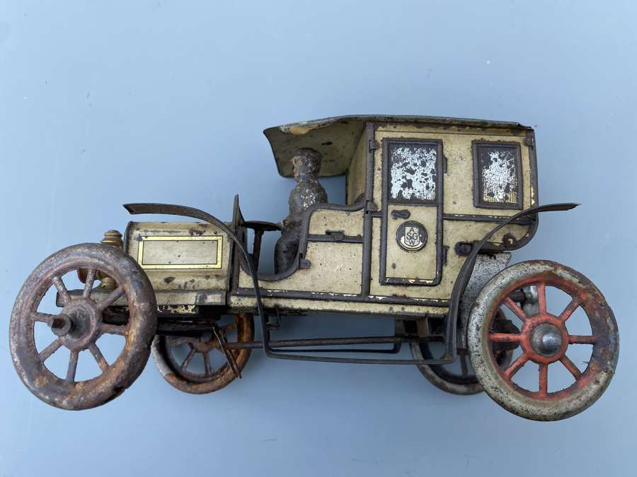 Gunthermann Siegfried Tin Plate Clockwork Model Car.Germany