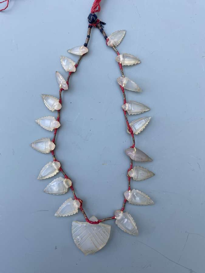 An Islamic Ancient Carnelian Agate Arrow-Head Necklace