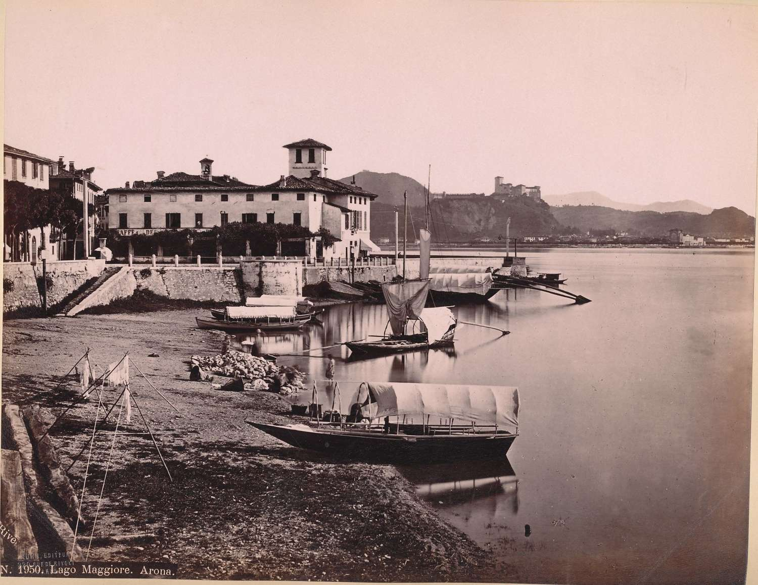 Italy Arona Lake Maggire By J. Kuhn.No 1950  C1880
