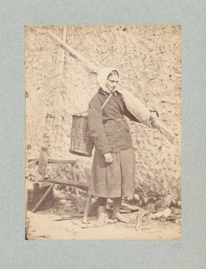 French Farm Girl By C Famin C1875