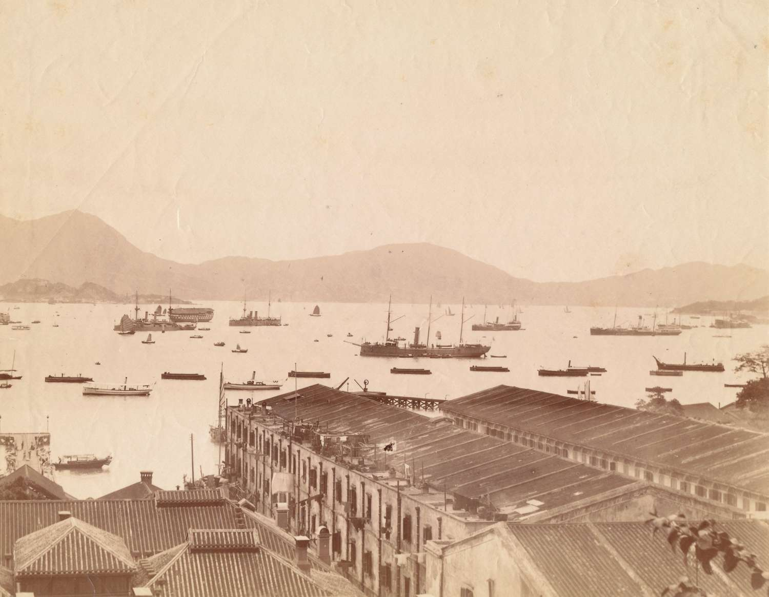 Hong Kong Harbor View China C1875