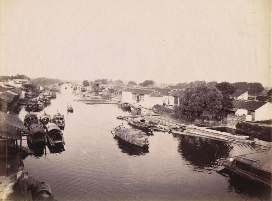 A River Scene Shanghai China C1880