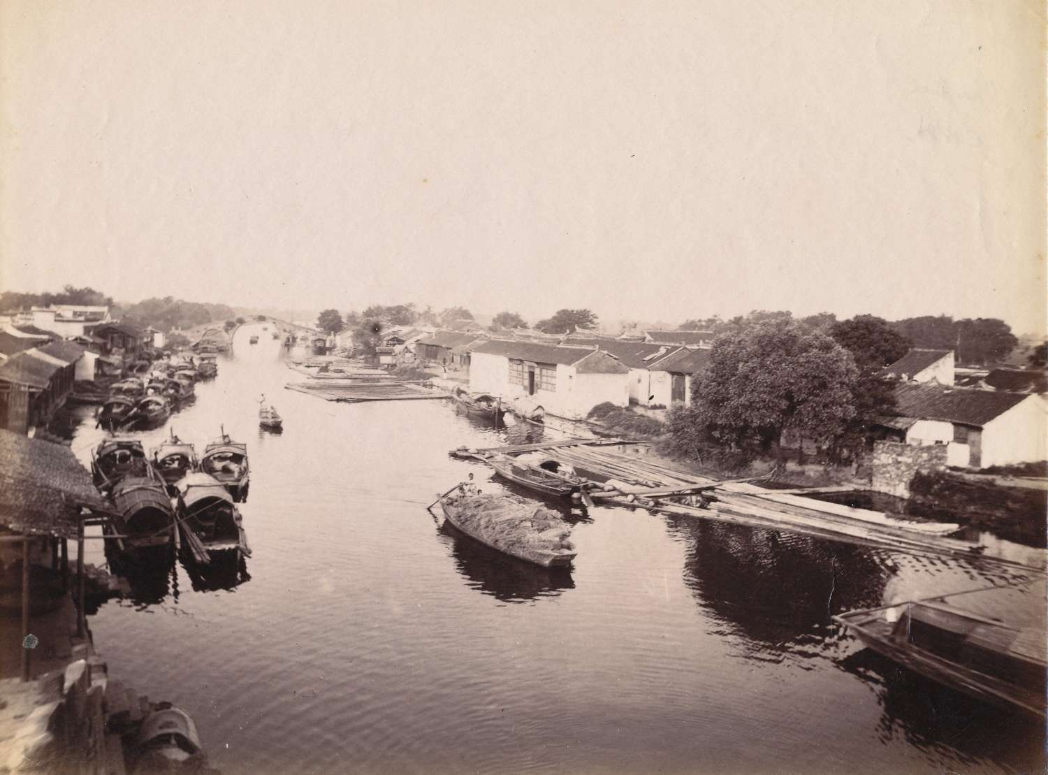 A River Scene Shanghai China C1880