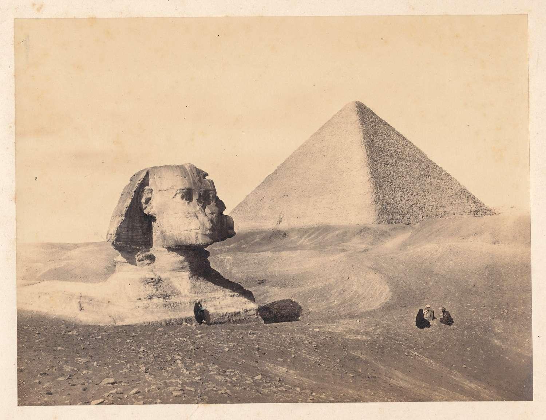 Pyramid Sphinx Cairo Egypt. Francis Frith C1860