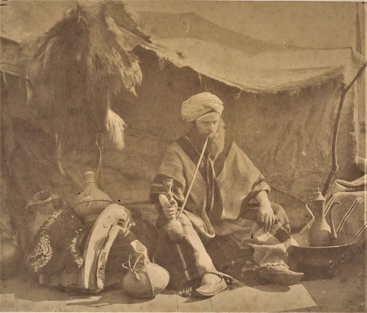 A Seated Arab An Orientalist Study William M Grundy C1855