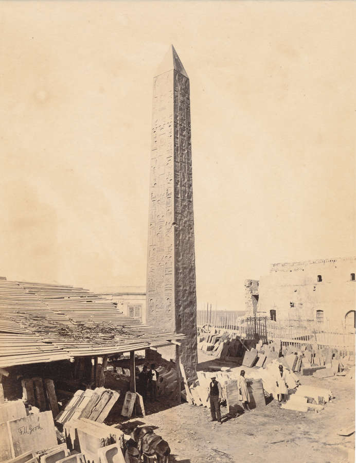 Cleopatra's Needle Egypt  By Frank Mason Good C1870