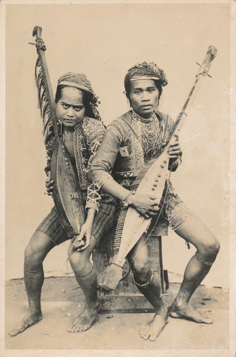 Javanese Married couple Play one String instrument C1930