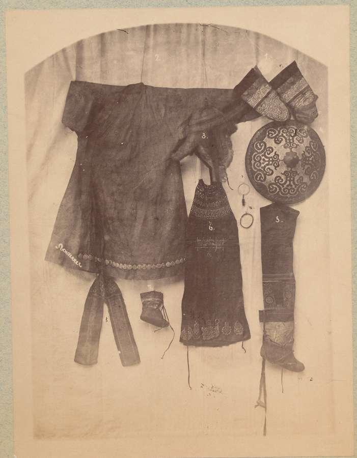 Extremely Rare Photo of Giliak Tribe Costume Siberia C1885