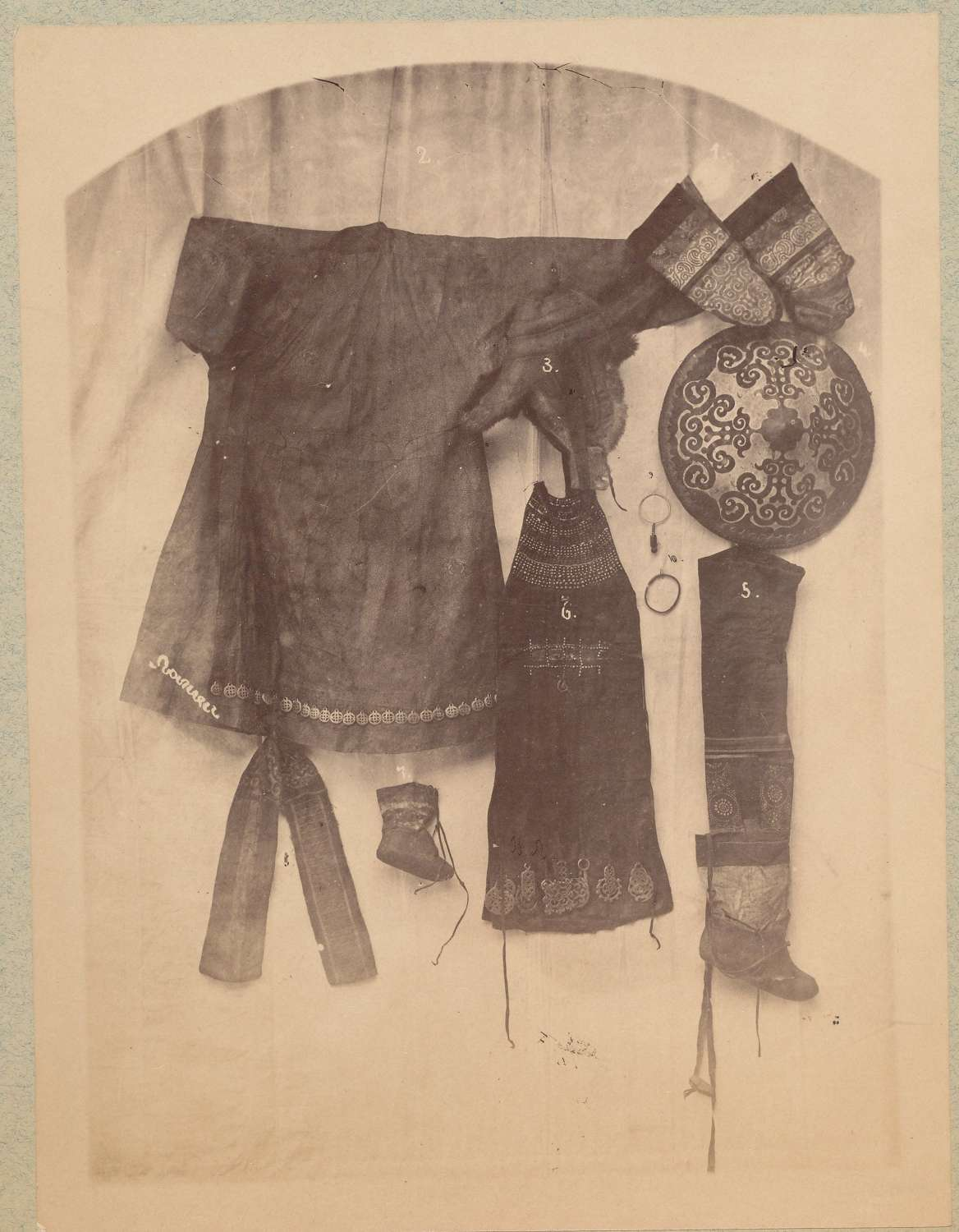 Extremely Rare Photo of Giliak Tribe Costume Siberia C1885