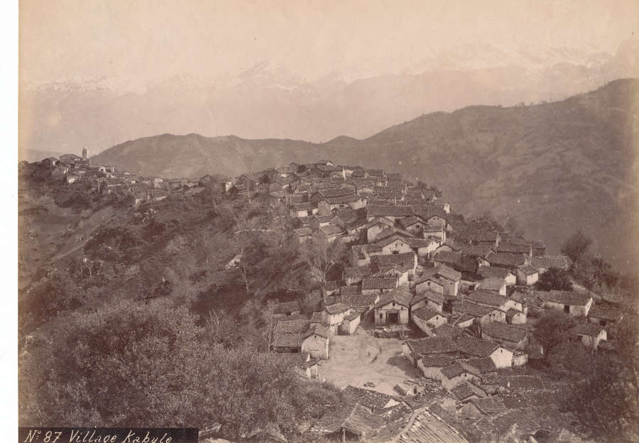 Village Kabule. Kabul Afghanistan C1870