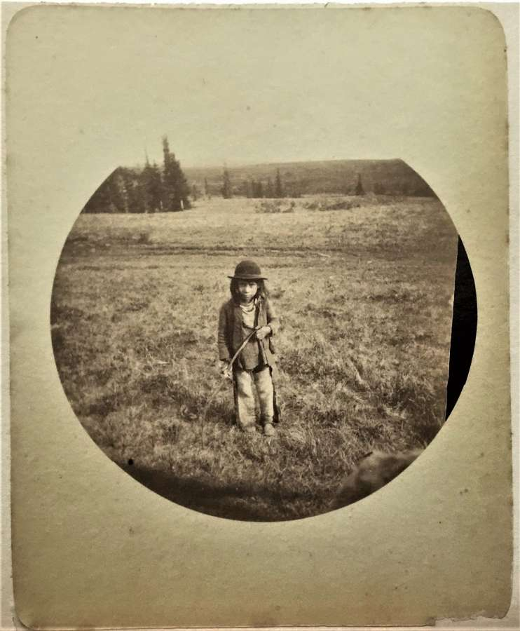Native American Indian Child Rare Kodak No 2 Print C1889
