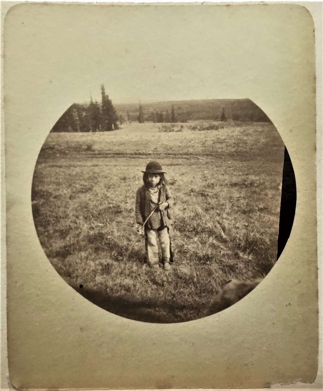 Native American Indian Child Rare Kodak No 2 Print C1889