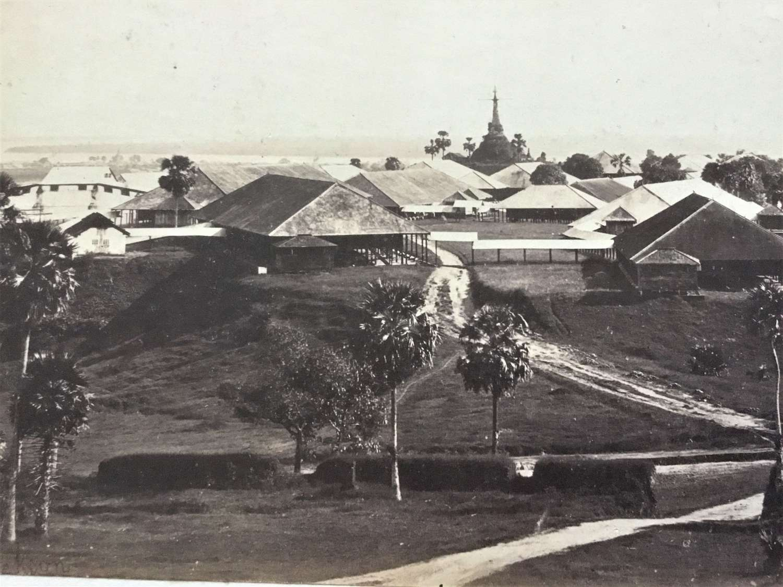 Flag Staff Pagoda Rangoon Burma By J Jackson C1868