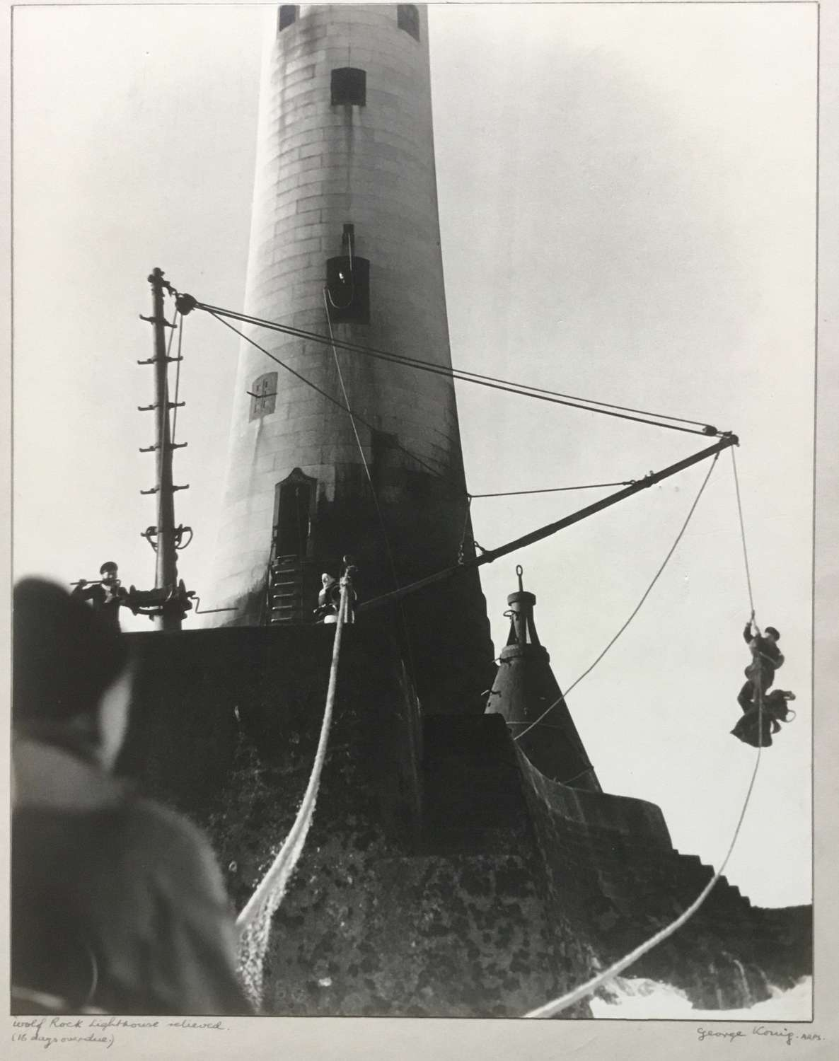 ' The Relief of Wolf Rock Lighthouse ' George Konig, England 1946