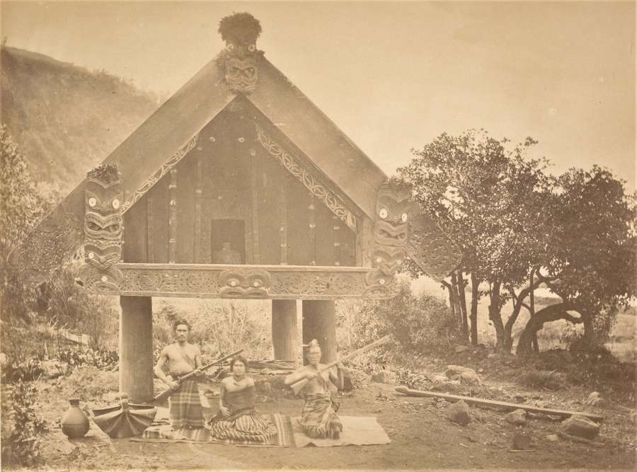 Maori Chief's House New Zealand C1880