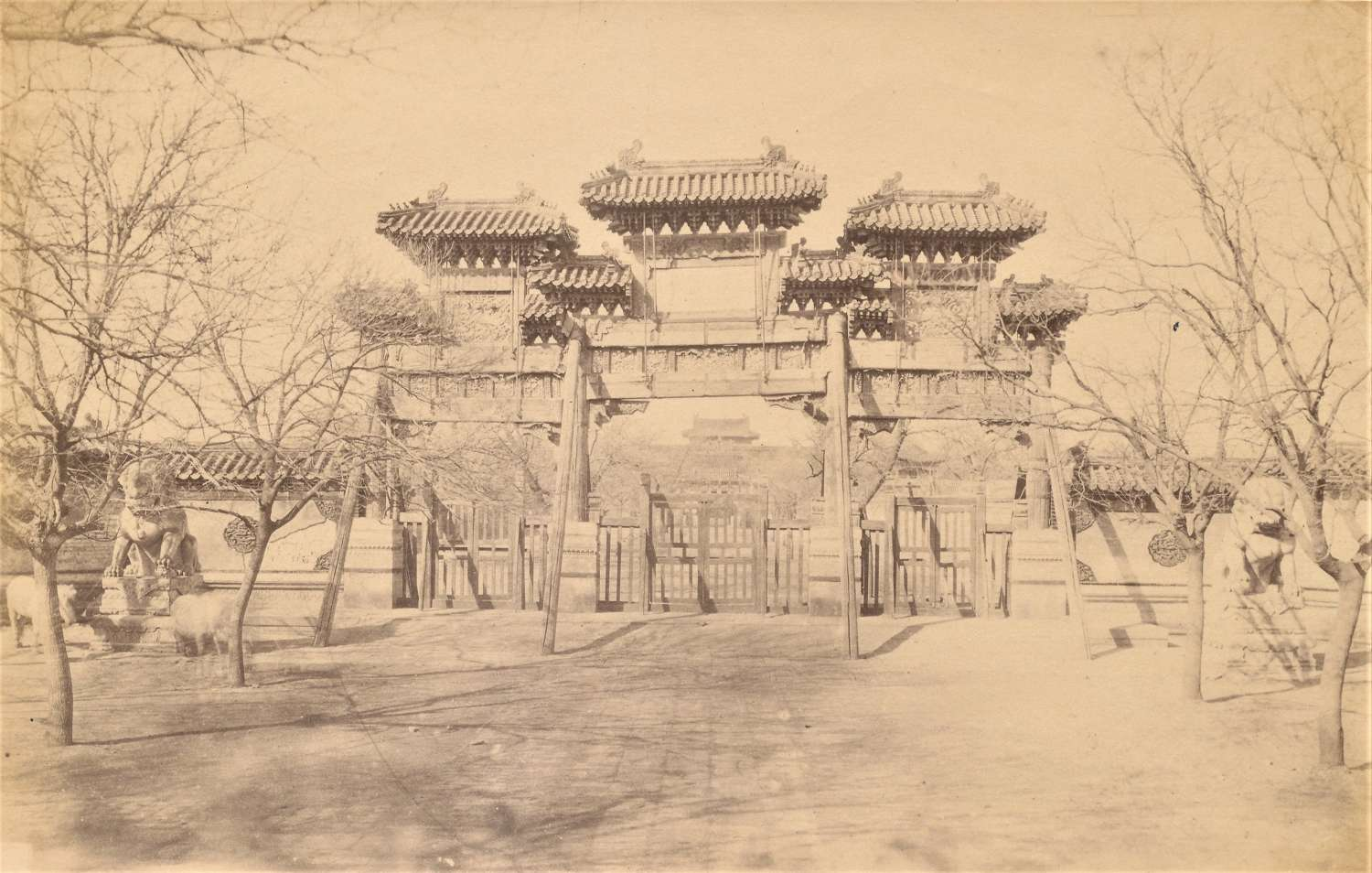 Temple Peking China By John Dudgeon C1865