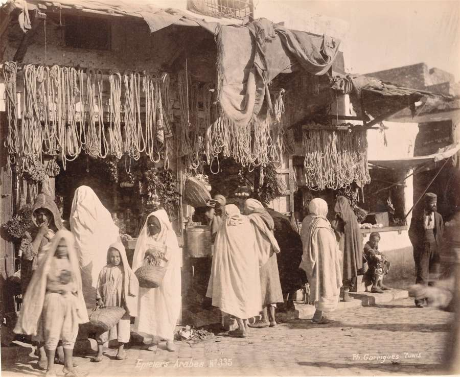Street Scene Tunisia By Garrigues C1880