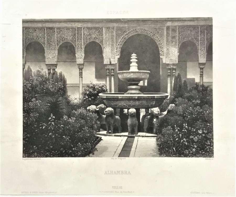 Alhambra Spain.N.P.Lerebours, C1841