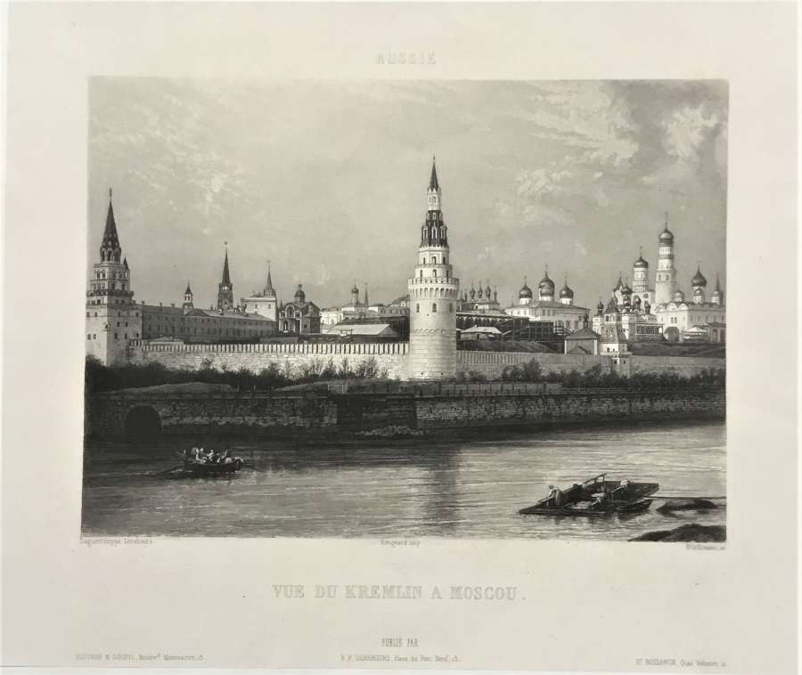 Moscow Russia. N.P.Lerebours, C1841