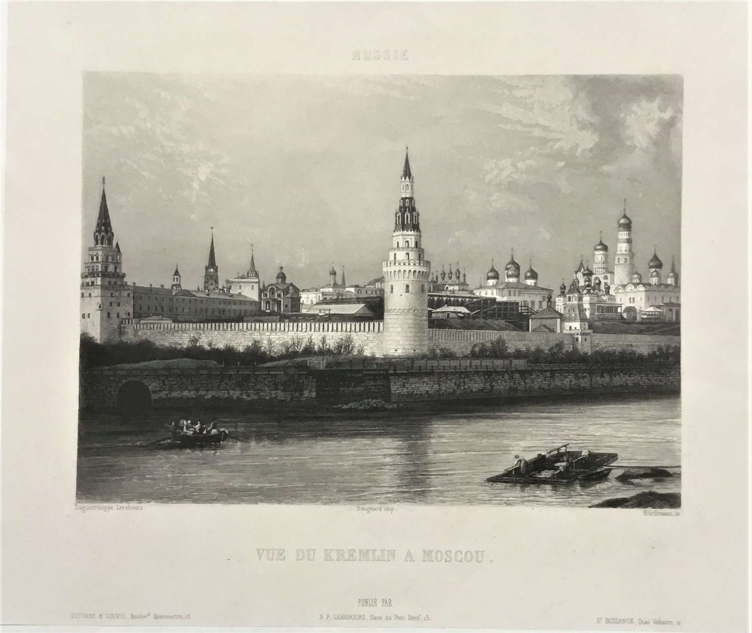 Moscow Russia.N.P.Lerebours, C1841