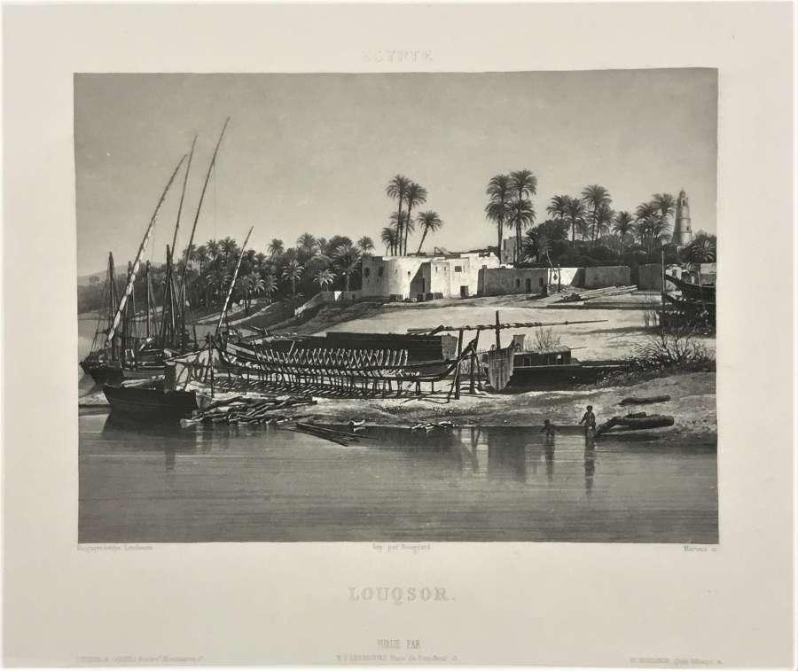 Luxor Egypt.N.P.Lerebours, C1841
