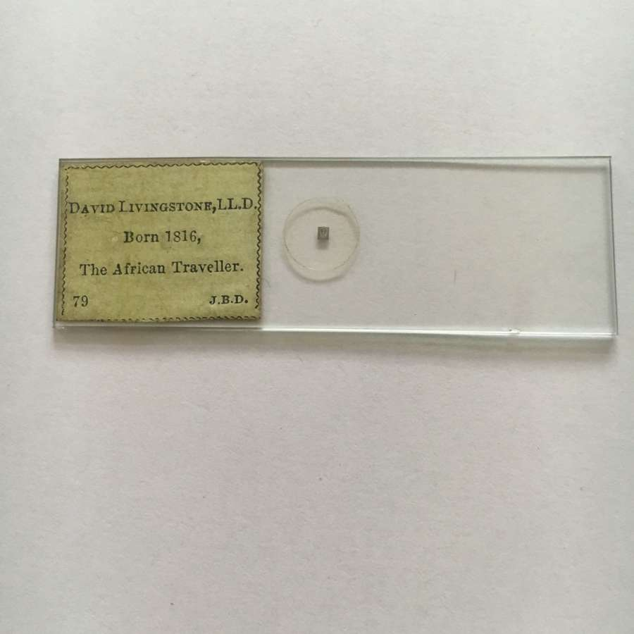 Microdot Slide By J. B. Dancer, David Livingstone African Traveller.