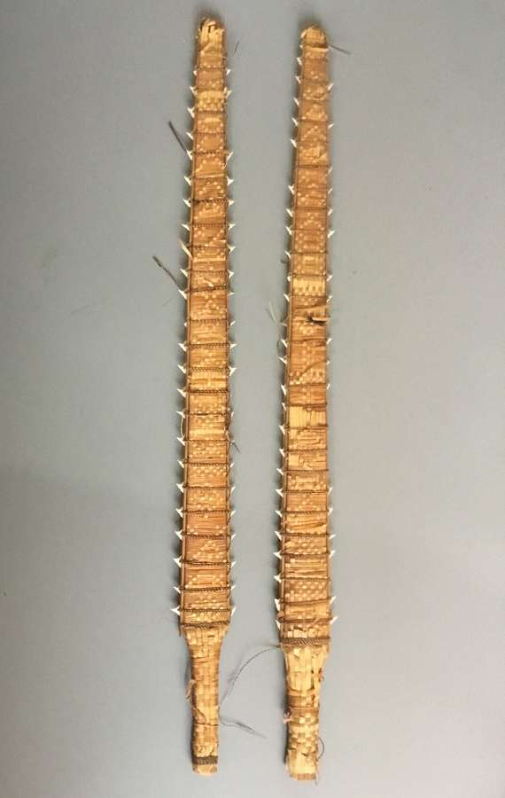 A Pair of Kiribati Island Shark Tooth Sword Clubs