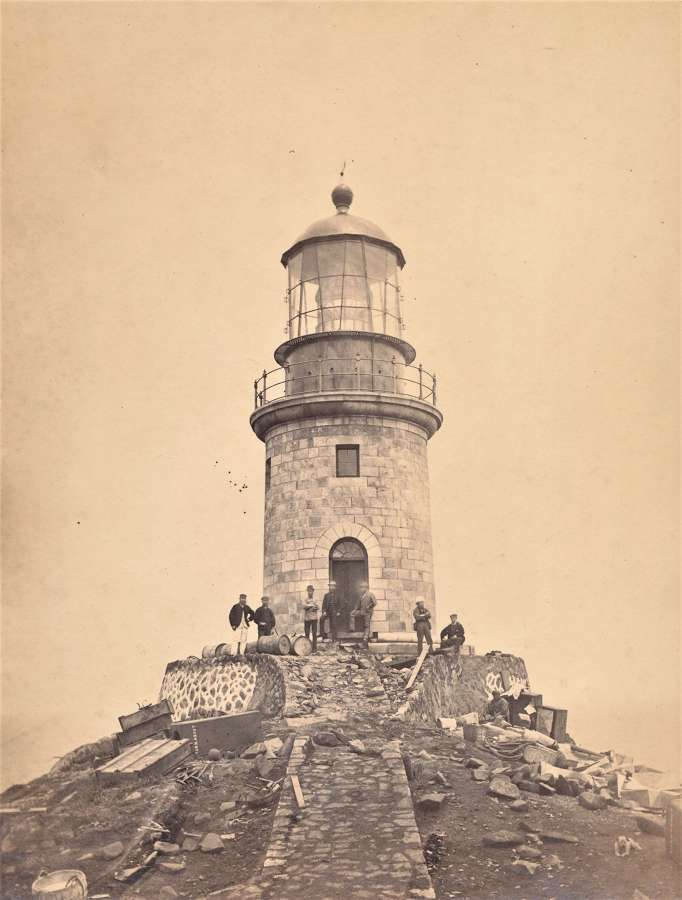 Lighthouse Turnabout Island near Fuzhou China C1880
