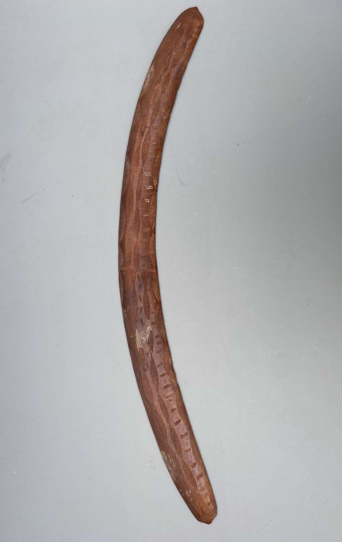 Fine Engraved Boomerang Aboriginal Queensland Australia